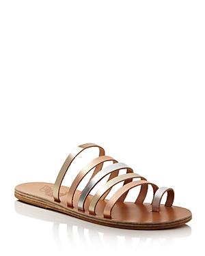 Ancient Greek Sandals Women\'s Niki Metallic Leather Sandals