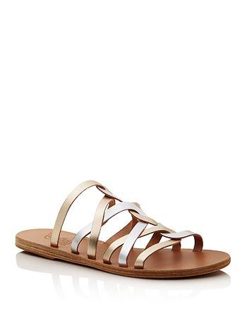 Ancient Greek Sandals - Women's Donousa Twisted Metallic Sandals