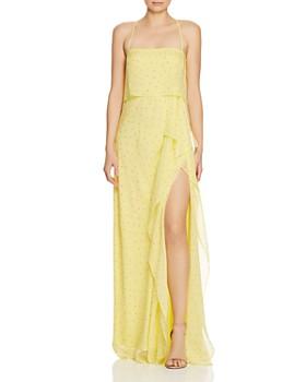 Michelle Mason - Dot-Print Silk Gown