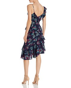 LIKELY - Ophelia Zoe Asymmetric Ruffled Floral Dress
