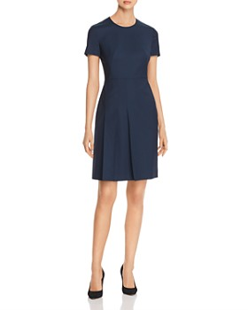 ba8a98cab BOSS - Domana Pleated Wool Sheath Dress ...