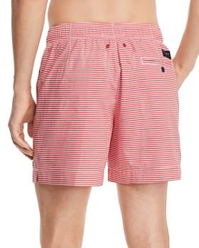 Tommy Hilfiger - Logo-Print Striped Regular Fit Swim Shorts