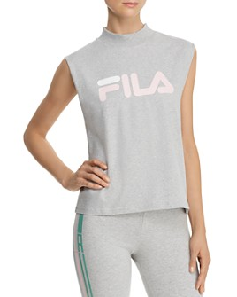 FILA - Helena Mock Neck Logo Top