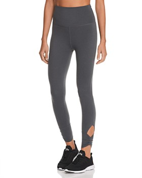 Beyond Yoga -  Plush Ruched-Cuff Leggings