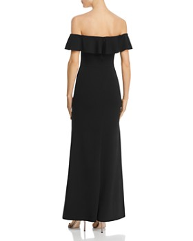 AQUA - Off-the-Shoulder A-Line Gown - 100% Exclusive