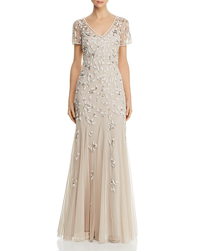 Adrianna Papell Beaded Godet Gown Bloomingdale S