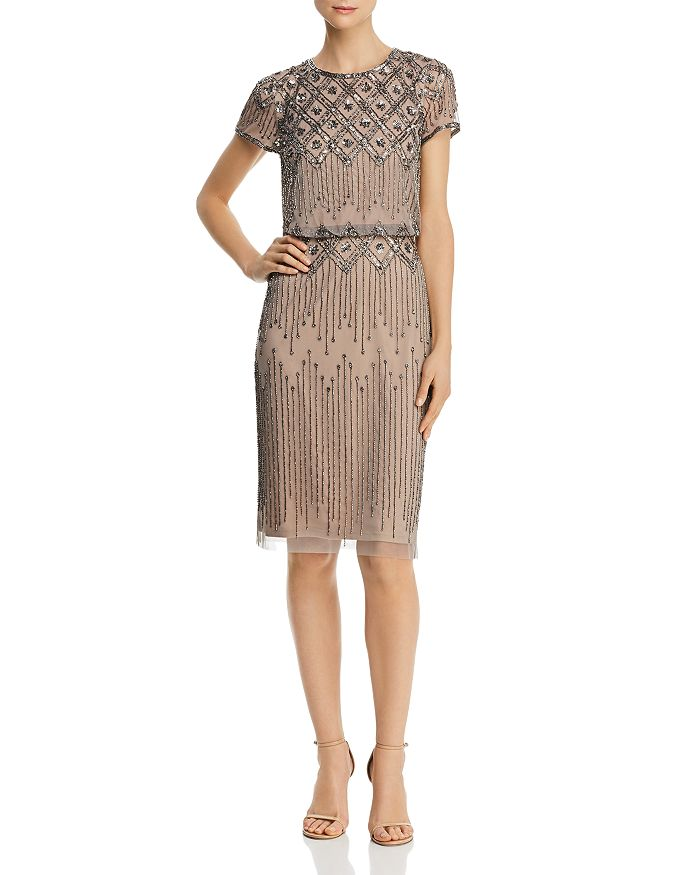 Adrianna Papell - Embellished Cocktail Dress