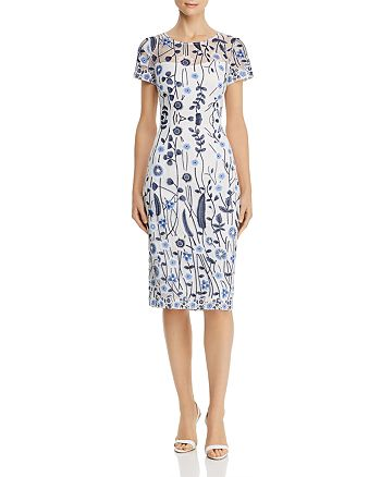 Adrianna Papell - Floral-Lace Sheath Dress