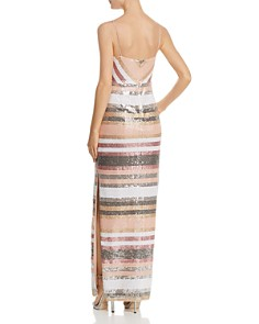 Adrianna Papell - Sequined Stripe Gown
