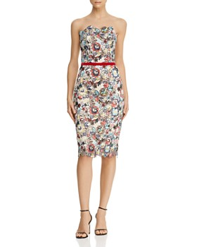 BRONX AND BANCO - Maria Blanc Floral-Embroidered Pencil Dress