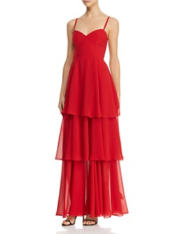 Fame and Partners - Sheer Tiered Gown - 100% Exclusive
