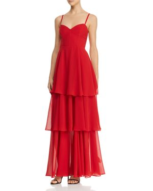 FAME AND PARTNERS | Fame and Partners Sheer Tiered Gown - 100% Exclusive | Goxip
