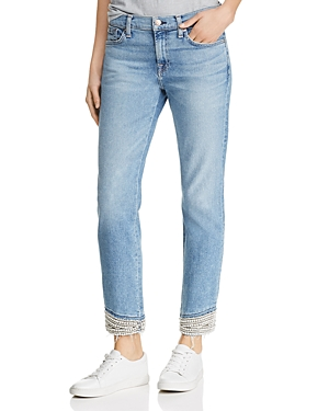 7 For All Mankind Jeans ROXANNE PEARL-HEM JEANS IN LUXE VINTAGE FLORA