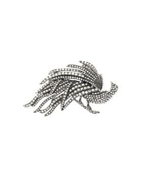 Oscar de la Renta - Pavé Peacock Pin