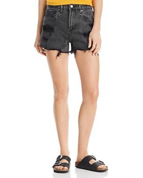BLANKNYC - High-Rise Distressed Denim Shorts in Stormi
