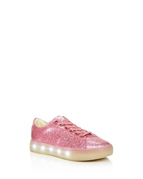 2da7e6f08955 POP SHOES - Girls  St. Laurent Glitter Light-Up Slip-On Sneaker ...