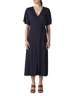 Whistles - Dot-Print Wrap Dress