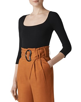 Whistles - Fitted Ribbed Top