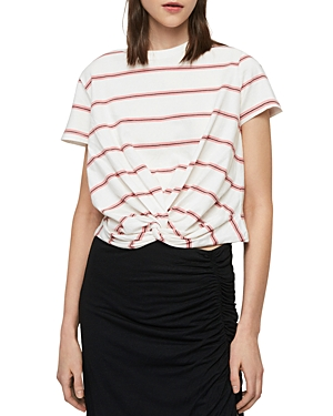 Allsaints Tops CARME TWIST-FRONT STRIPED TEE