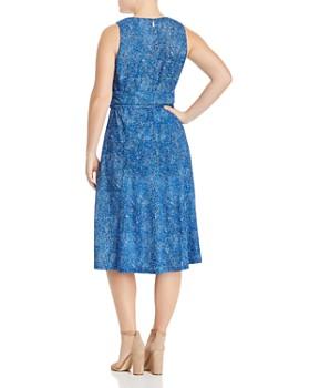 MICHAEL Michael Kors Plus - Mosaic Print Belted Dress