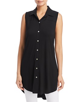Kim & Cami - Button-Front Tunic Top