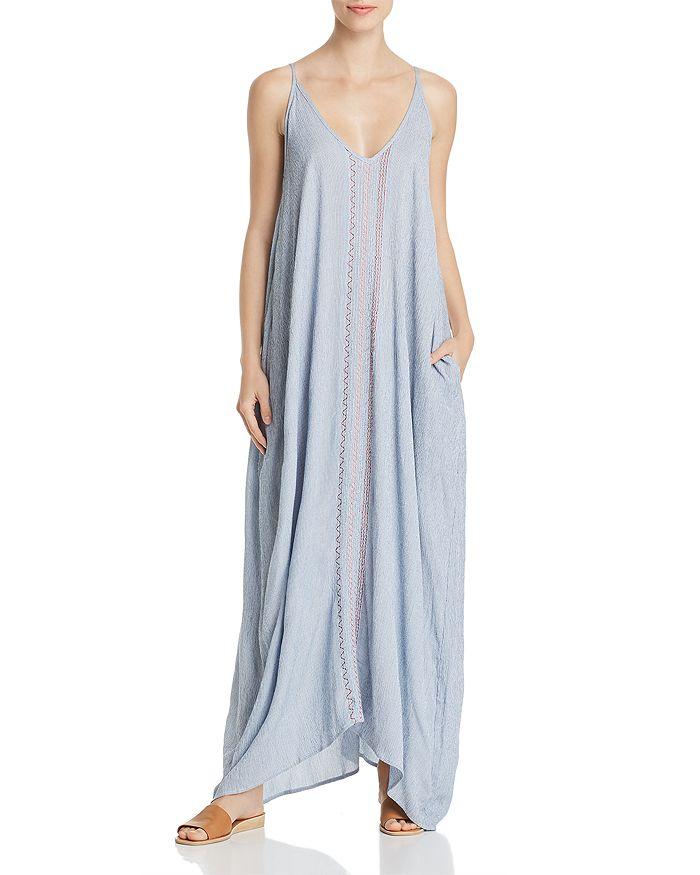 Elan - Sleeveless Embroidered Maxi Dress