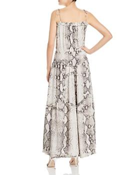 S/W/F - Harmony Snakeskin-Print Maxi Dress