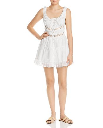 Rahi - Solstice Crocheted-Inset Mini Dress