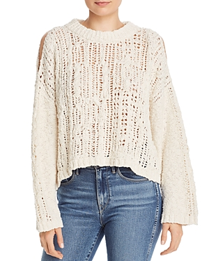 Free People Sweaters OCEAN COLD-SHOULDER SWEATER
