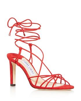 26de928989ba4 Jimmy Choo - Women's Tao 85 Ankle-Tie High-Heel Sandals ...