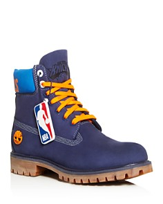 Timberland - Men's Knicks Logo Waterproof Nubuck Leather Boots