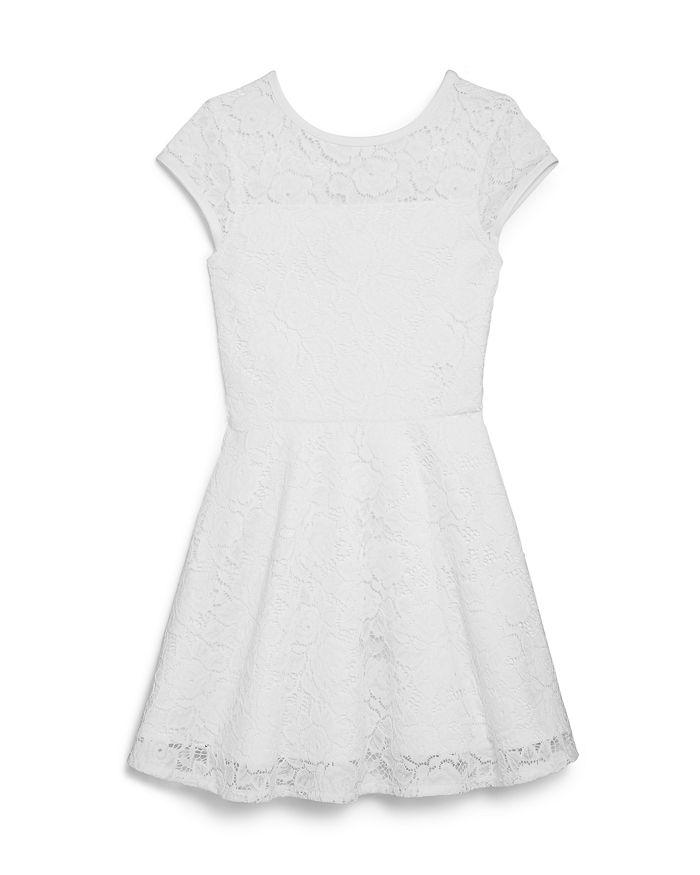 AQUA - Girls' Lace Fit-and-Flare Dress, Big Kid - 100% Exclusive