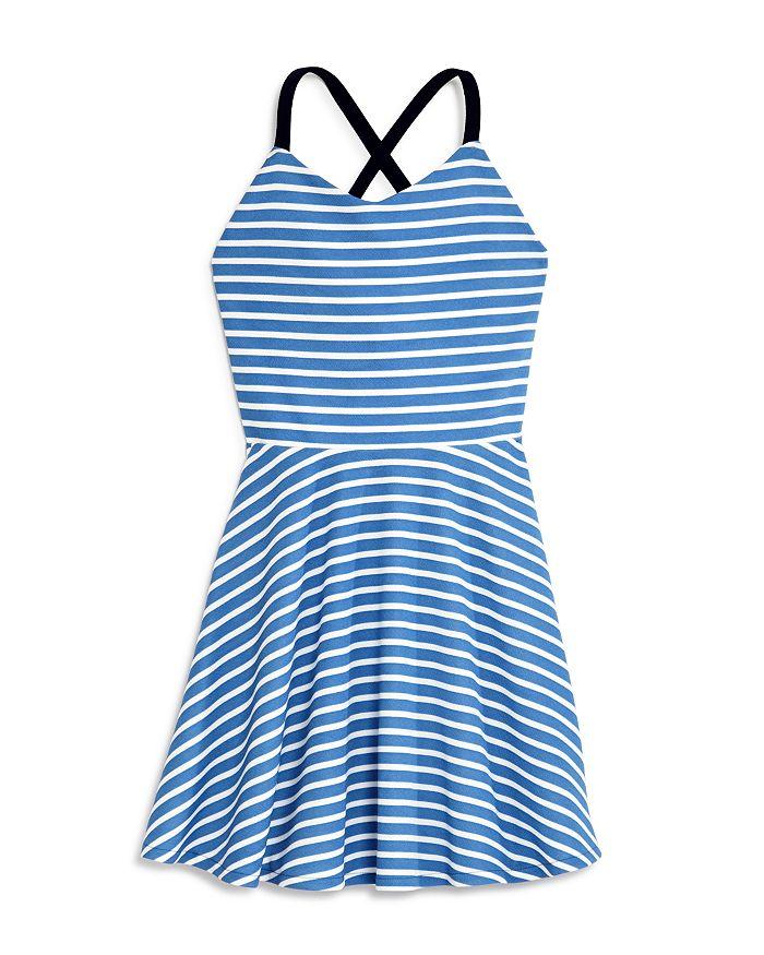 AQUA - Girls' Striped Crossback Dress, Big Kid - 100% Exclusive