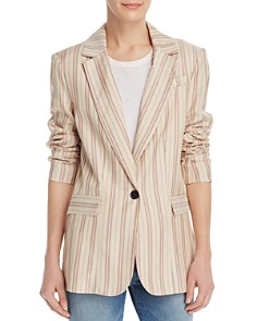Joie - Kishina Laced-Cuffs Striped Blazer