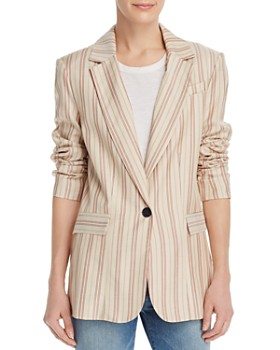 839c5d192cf2 Joie - Kishina Laced-Cuffs Striped Blazer ...