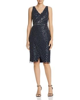 85c80b66b5 Adrianna Papell - Beaded V-Neck Sheath Dress ...