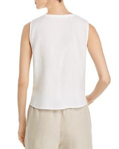 Eileen Fisher - Organic Linen Button-Front Tank