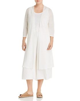 Eileen Fisher Plus - Open-Front Duster Cardigan