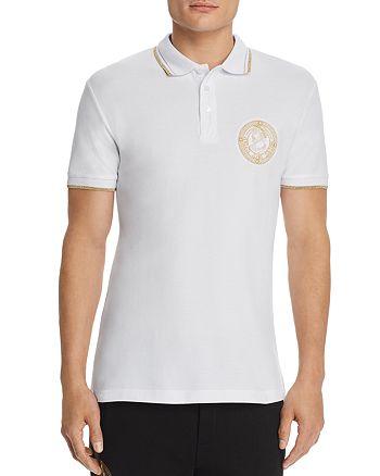 Versace Jeans Couture - Metallic Coin-Logo Regular Fit Polo Shirt