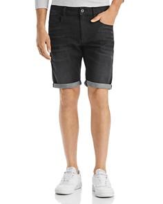 G-STAR RAW - 3302 Slim Fit Denim Shorts in Medium Gray Aged