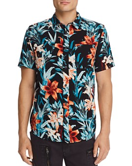 RVCA - Montague Short-Sleeve Floral-Print Slim Fit Shirt