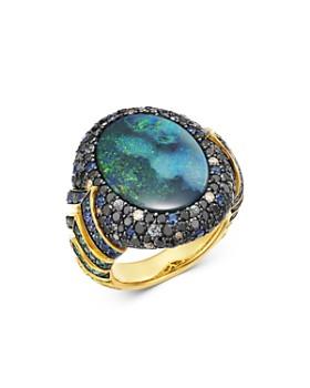 JOHN HARDY - 18K Gold Cinta Naga Petir One-of-a-Kind Ring with Diamonds & Gemstones - 100% Exclusive