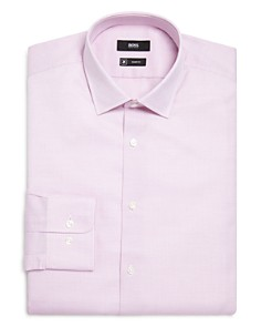BOSS - Micro Solid Regular Fit Dress Shirt