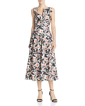 Rebecca Taylor - Kamea Bow-Detail Midi Dress