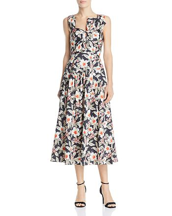 Rebecca Taylor - Kamea Bow-Detail Midi Dress