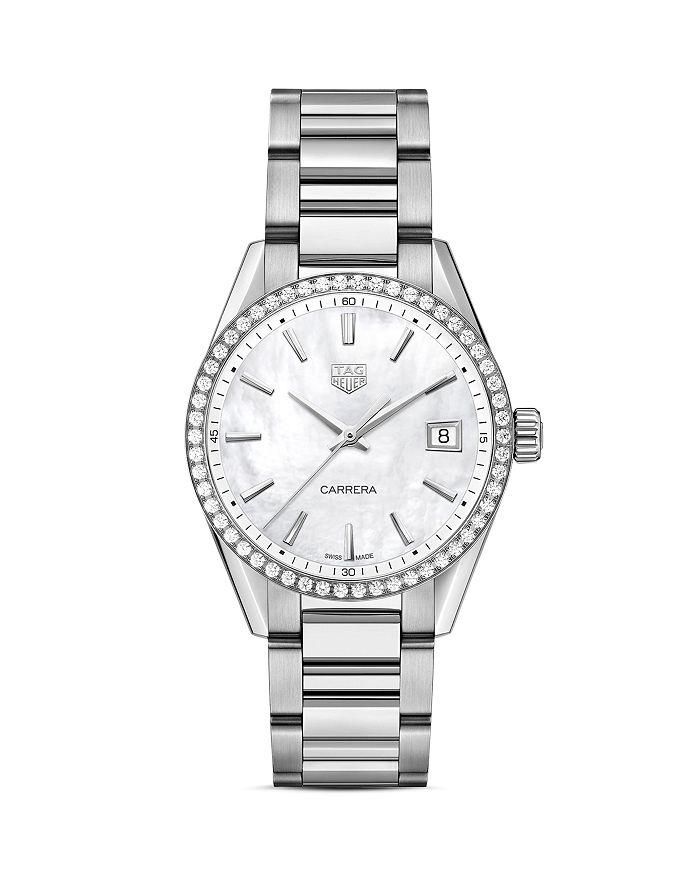 TAG Heuer - Carrera Quartz Ladies' Mother of Pearl Steel Watch, 36mm