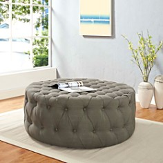Modway - Amour Upholstered Fabric Ottoman