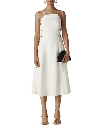 Whistles - Nina Button-Detail Midi Dress