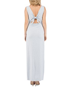 B Collection by Bobeau - Ansel V-Neck Tie-Back Maxi Dress
