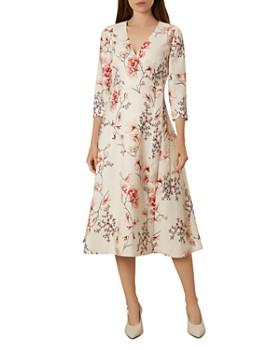 4faa40b9cb HOBBS LONDON - Catherine Floral Wrap Dress ...